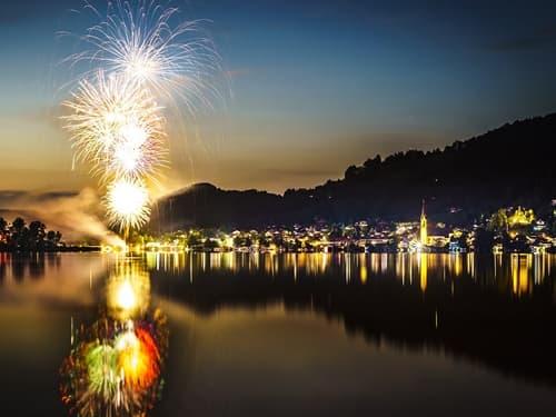 Feuerwerk zum Seefest Schliersee