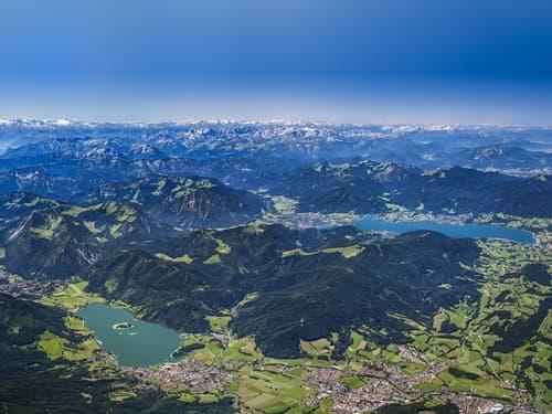 Luftaufnahme Alpenregion Tegernsee Schliersee