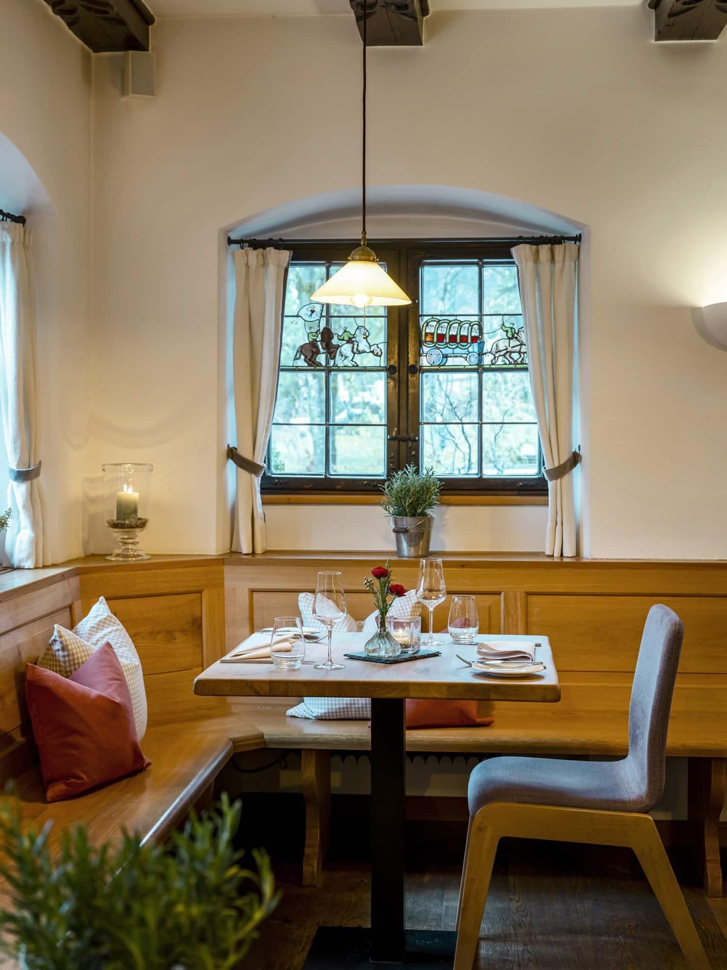 Gedeckter Tisch Restaurant Alperie am Schliersee
