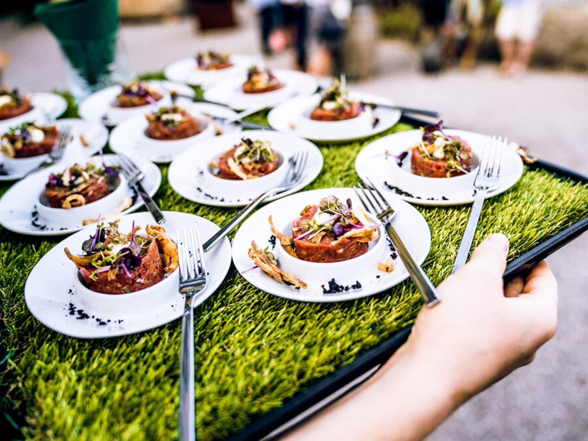Service bei Events im Alpengarten Alperie