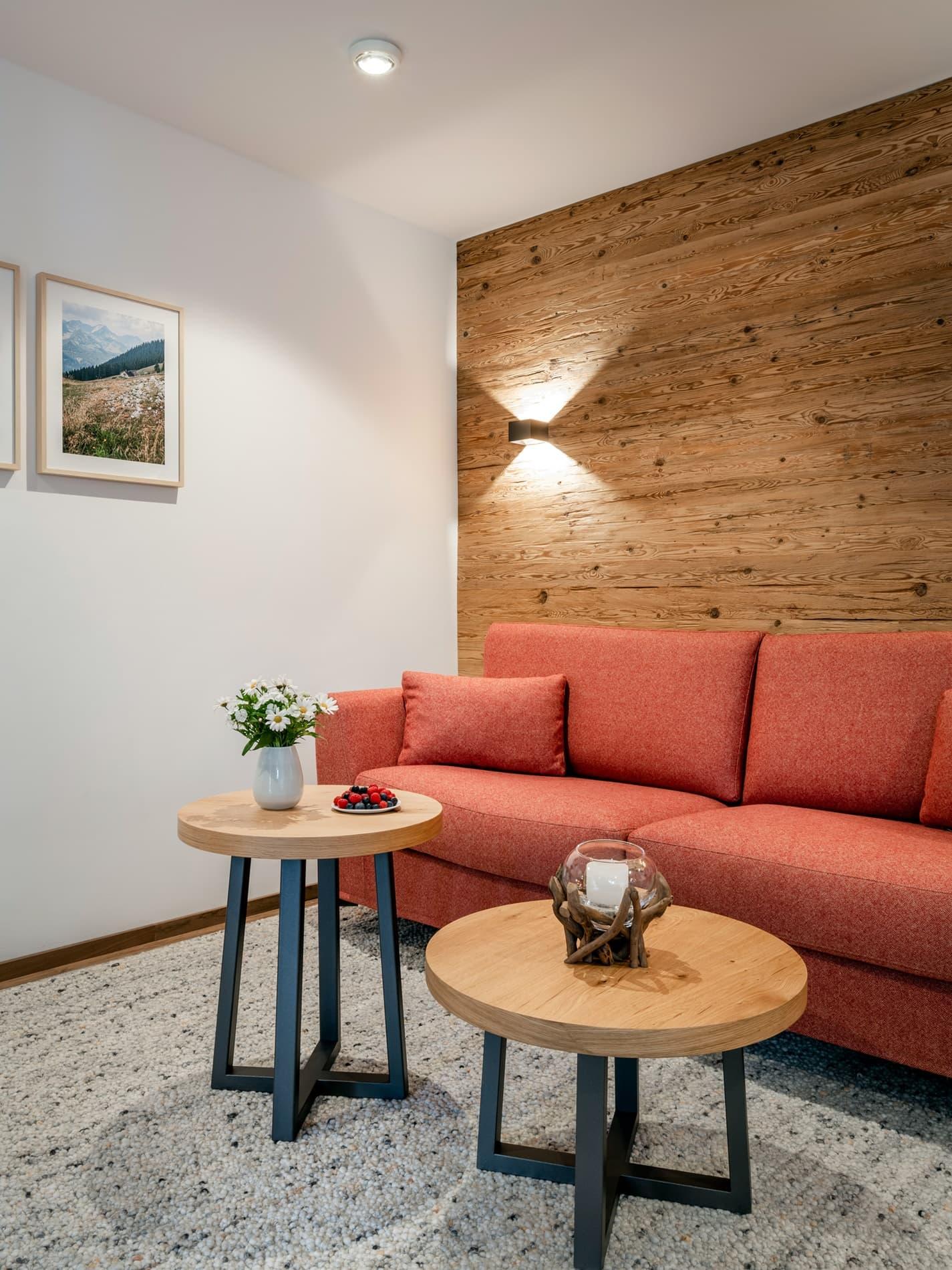 Wohnzimmer Ferienwohnung Bergidyll Ferienhaus Alperie