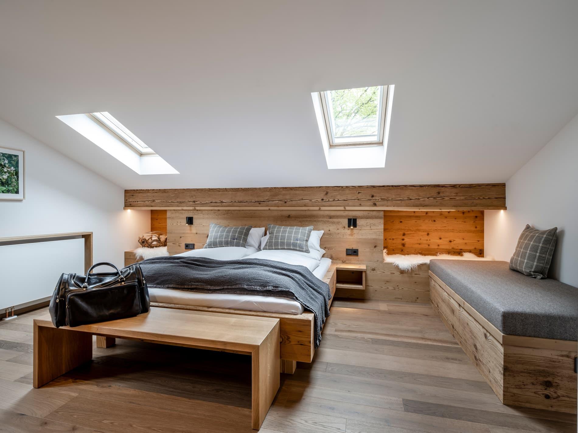 Schlafzimmer Ferienwohnung Heuboden Ferienhaus Alperie
