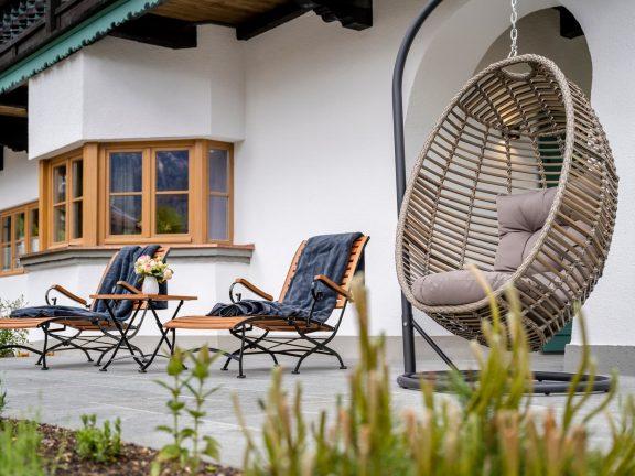 Terrasse Ferienwohnung Immergrün Ferienhaus Alperie