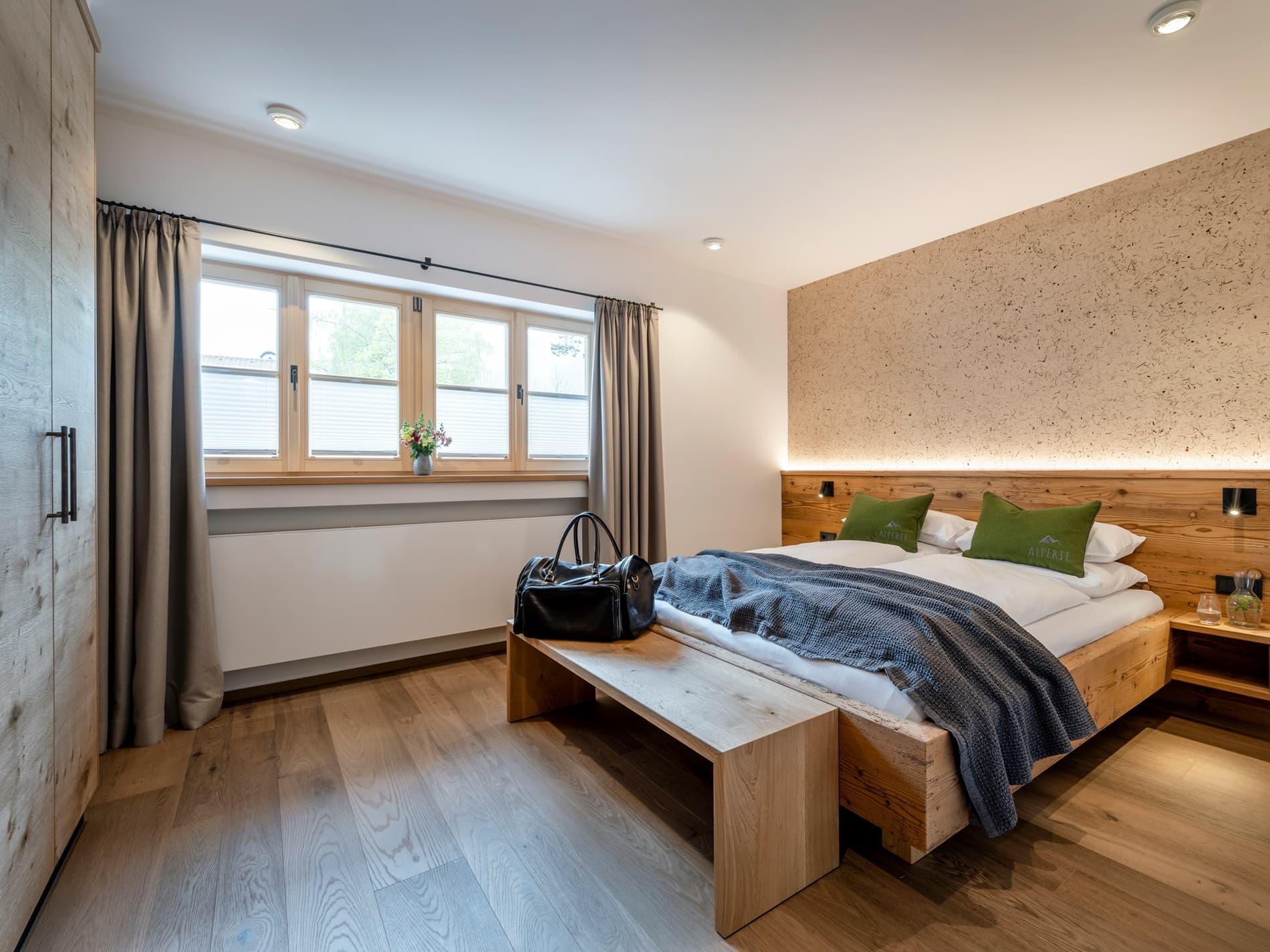 Schlafzimmer Ferienwohnung Immergrün Ferienhaus Alperie